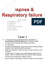 Dyspnea n Resp Failure