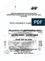 NOTA KURSUS TAHUN 2006 - Penyeliaan Projek Pembinaan - 22-08-2006 to 24-08-2006
