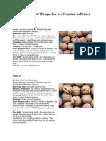 Hungarian Walnut Varieties