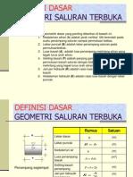 Geometrik Saluran Terbuka