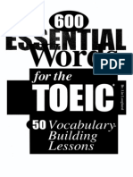 600 Essential Word for Toeic Test