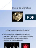 Interferómetro de Michelson..