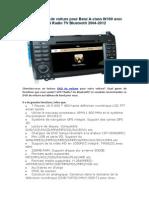 Lecteur DVD de Voiture Pour Benz a-class W169 Avec GPS Radio TV Bluetooth 2004-2012