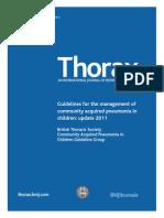 Guidelines Pneumonia in Children 2011