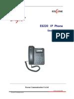 ES220 IPPhone Manuale Inglese
