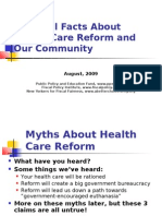 The Real Facts About Health Care Reform and Our Community