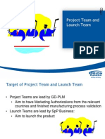 Project Team and Launch Team
