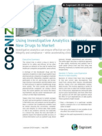 Using Investigative Analytics to Speed New Drugs to Market