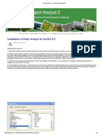 Patch Analyst 5 - ArcGIS 9