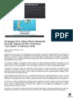 """30 Maggio 2014 - """"Signora dei filtri"""" - Maria Vittoria Masserotti recensisce """"Cani acerbi"""" di Gianluca Conte"""