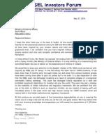 Letter to Smt. Sushma Swaraj