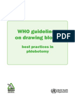 WHO Guidelines on Drawing Blood