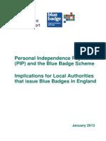 Pip Blue Badge Scheme