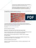 Masonry Wall Construction