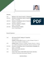 Dr. Julia Garcia-Baeza CV