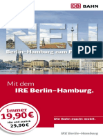 DB IRE Berlin Hamburg Flyer