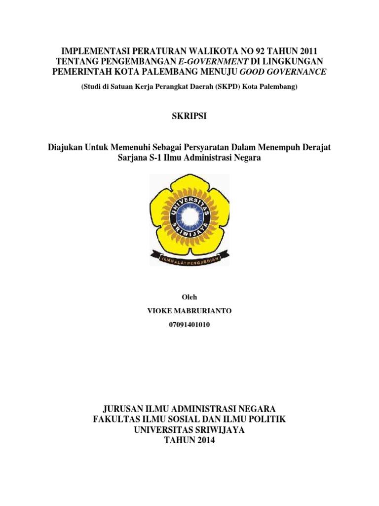 Contoh Tesis Administrasi Publik Contoh Soal Dan Materi Pelajaran 2