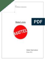 Mattel Crisis