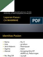 Case CA Mammae - Dr. Tj