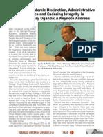 Keynote address by former Uganda Prime Minister Apolo Nsibambi  - Bernard Onyango memorial