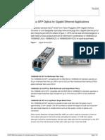Cisco SFP Optics for Gigabit Ethernet Application