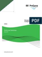 HP ProCurve - Management and Configuration Guide W.14.03