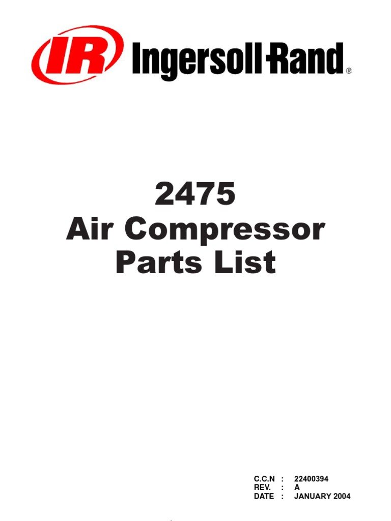 Ingersoll Rand 2475 Wiring Diagram Diagrams Schematics Need Plug Hook Up For 220 2475n75 Type 30 Parts Manual On 185 Compressor Service