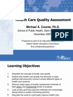 Health Care Quality Assessment