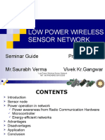 lOw Power Wire Less Sensor Network--ppt
