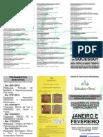 Calendario Cursos Janeiro e Fevereiro 2014
