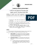 Public Holidays 2008 - Government Tamil Nadu