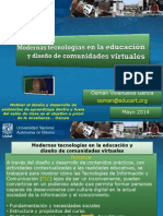 Modernas tecnologías en la educación y diseño de comunidades virtuales