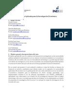 Econometría Aplicada para la Investigación Economica  (Final)