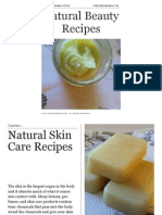 Natural Beauty Recipes 37pages