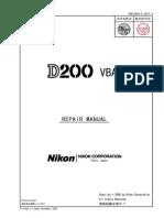 NIKON - D200 Repair Manual