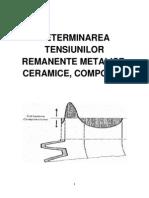 Determinarea Tensiunilor Remanente Metalice, Ceramice, Compozite