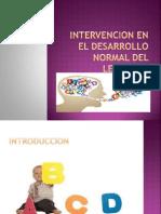 Intervencion en El Desarrollo Normal Del Lenguaje