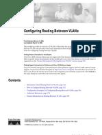 Configuring Routing Between Vlans