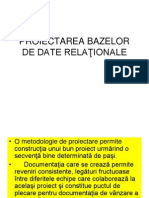 Proiectarea Bazelor de Date Relationale