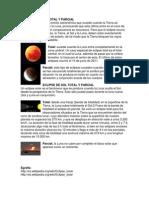 Eclipse de Luna Total y Parcial