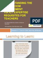Understanding the Classroom ManagementVia ICT Expertise requisites for Teachers