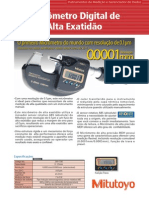 Micrômetro Digital de Alta Precisão MDH_Mitutoyo