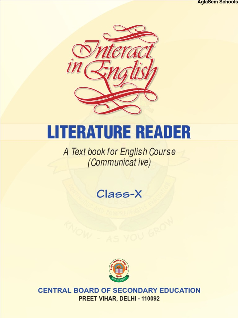 Cbse class x interaction in english literature reader narration fandeluxe Image collections