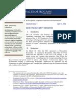 Cybersecurity Risk Alert & Appendix - 4.15.14