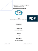 ACTIVIDAD IV, Medidas de Centralizacion