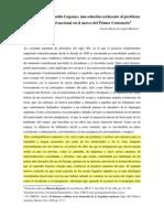 01 Gisela Mattioni - 'El Payador' de Leopoldo Lugones_ Una Solución Excluyente Al Problema de La Identidad Nacional en El Marco Del Primer Centenario