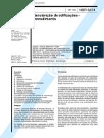 NBR 5674 - Manutencao de Edificacoes - Procedimento