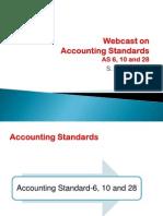 WebcastAccountingStandardsAS 6,10&28