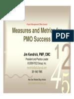 PMO Performance Measurement Metrics(Kendrick)