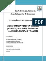 Crisis Ambientales en Europa (Francia, Holanda, Portugal, Alemania,…